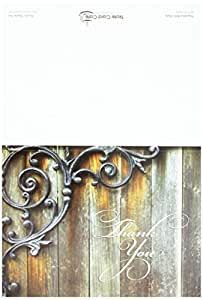 Rustic Thank You Note Cards - 36 Thank You Cards for $12.99 - 6 Designs - Blank Cards - Off-White Ivory Envelopes Included