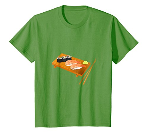 Kids This is How I Roll - I Love Sushi Tee - (Sushi Rolls) 12 Grass