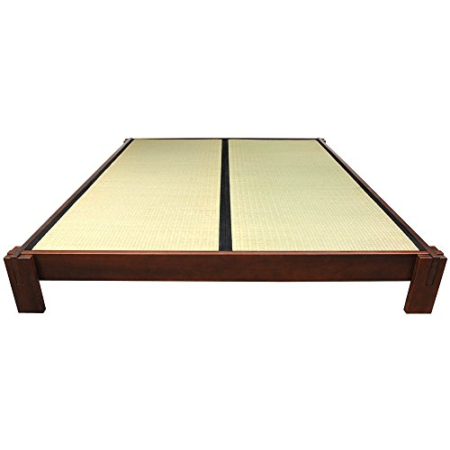 oriental furniture tatami platform bed walnut queen