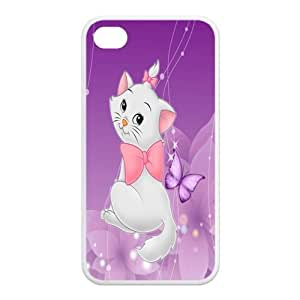 Mystic Zone Customized The Aristocats iPhone 4 Case for iPhone 4/4S Cover lovely Cartoon Fits Case KEK0483