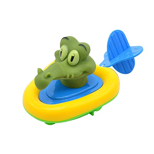 Fxhan Cartoon Animal Boat Bath Toy Amphibious Clockwork Pull Cord Baby Toddlers Kids Water Toys