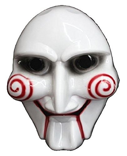 [Saw-saw surprise everyone at the Festival of the Billy puppet style mask mask jigsaw killer Jigsaw Killer Halloween Haunted House! Cosplay costume, costume props, horror toy jokes a collection item] (Saw Jigsaw Halloween Costume)