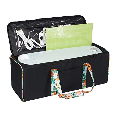 (Everything Mary Collapsible Die-Cutting Machine Carrying Case - Craft E-Tote Bag Compatible with Cricut Explore Air & Cricut Maker - Cutting Machine Storage Bag for Vinyl, Tools, Pens, Accessories)