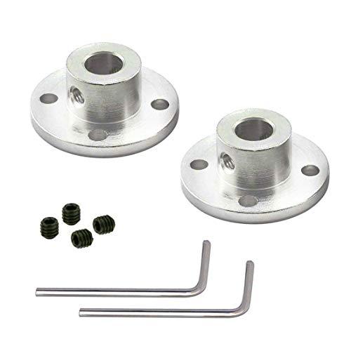 2 Pack 8mm Rigid Flange Coupling Motor Guide Shaft Coupler Motor Connector ()