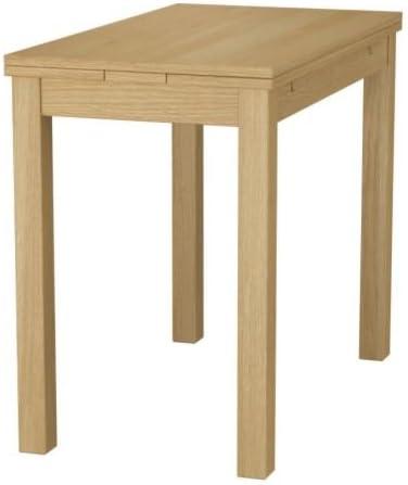 Ikea Bjursta Table Extensible Placage Chene 50 70 90x90 Cm Amazon Fr Cuisine Maison