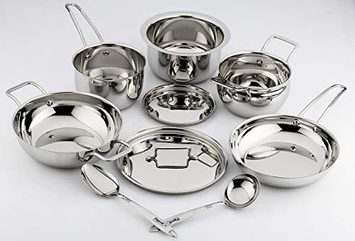 Pigeon Estilo Stainless Steel Cookware Set, 7 Pieces, Silver