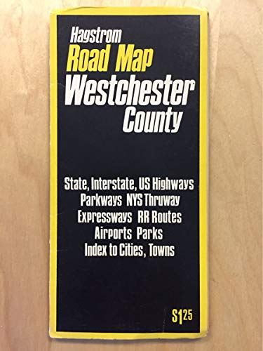 1974 Hagstrom Westchester County Road Map ()