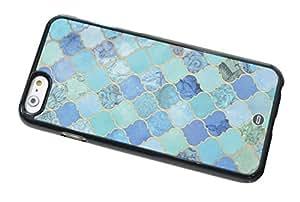 1888998664676 [Global Case] Marrocan Mandala Patrón de flores Azul Verde Arte Árabe Azteca Étnico Tribal Maya Flores Mosaico Oriental Oriente (TRANSPARENTE FUNDA) Carcasa Protectora Cover Case Absorción Dura Suave para Samsung Galaxy Core 2 SM-G355H