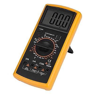 Mugast 9V Digital Multimeter, Handheld High Accuracy Tester with Auto Correction Overrange Indication for AC/DC Voltage/Current Resistance Capacitance Diode Transistor