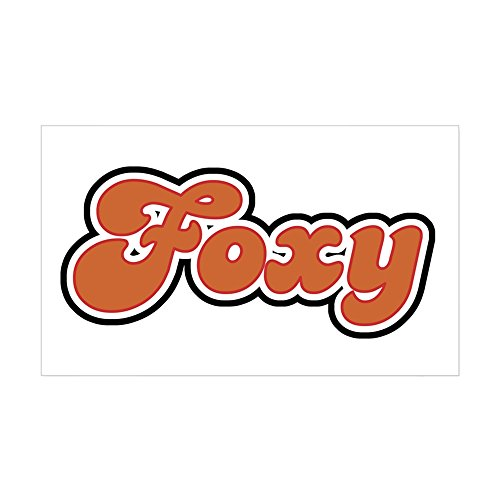 CafePress - Foxy Rectangle Sticker - Rectangle Bumper Sticker Car Decal