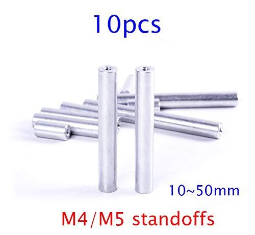 Hockus Accessories 10Pcs M4/M5 Aluminum Standoff Column Pillar with M4/M5 Thread for DIY Model Length 10/12/15/20/25/30/35/37/40/42/45/50mm - (Color: M5x50mm)