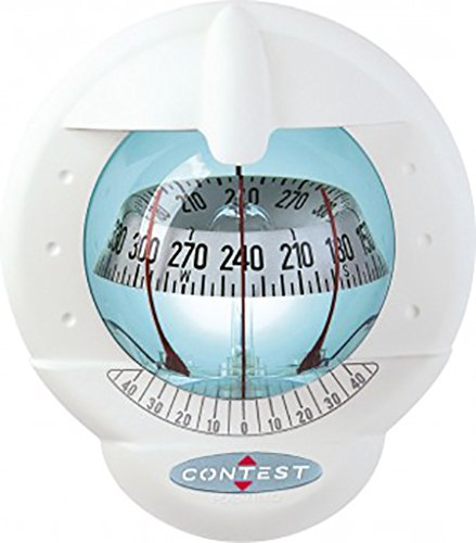 NAUTOS 51003 - CONTEST 101 COMPASS-VERTICAL MOUNT-WHITE COMPASS WITH WHITE CARD- PLASTIMO 64423 by Nautos