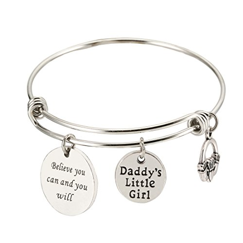 Daddy's Little Girl Bracelet,Believe you can Inspiration Bracelet for Daughter from Daddy (Daddy`s little girl)