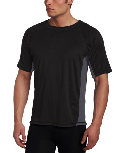 Kanu Surf Men's Big CB Extended-Size Rashguard UPF 50+ Swim Shirt, Black, 4X
