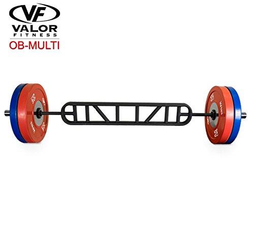 "Valor Fitness Multi Grip Olympic Bar, Black, 73"" L X7 W X2 H"