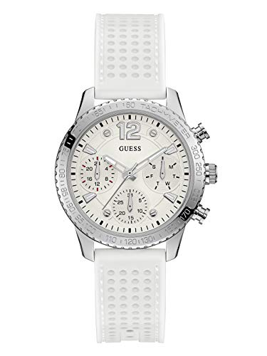 GUESS Womens Stainless Steel Multifunction Silicone Casual Watch