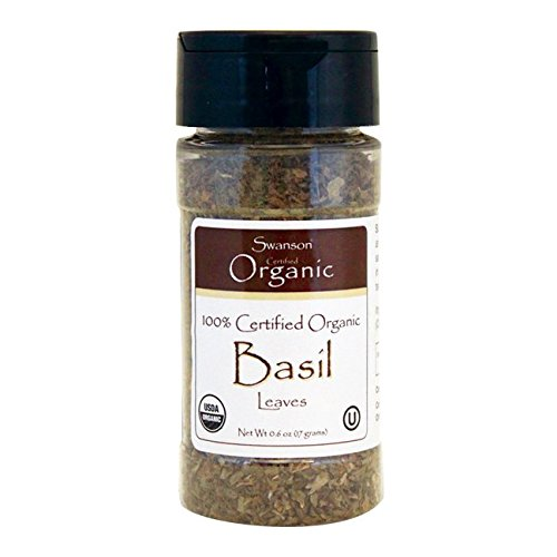 Swanson 100% Certified Organic Basil Leaves 0.6 Ounce (17 g) Flakes