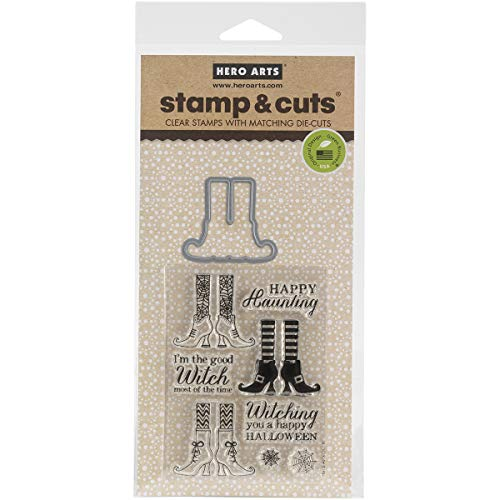 Hero Arts DC161 Stamp & Cut, Witch - Halloween Stamp Set