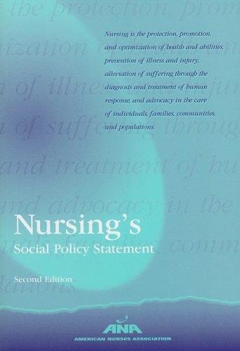 Nursing's Social Policy Statement (American Nurses Association)