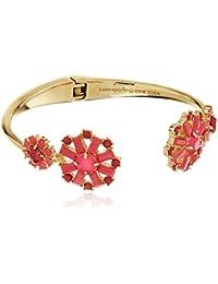 Small Open Hinge Pink/Multi-Colored Cuff Bracelet