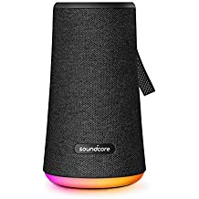 Soundcore Flare+ Portable 360° Bluetooth Speaker Anker, Huge 360° Sound, IPX7 Waterproof, Bigger Bass, Ambient LED Light, 20-Hour Playtime, 4 Drivers 2 Passive Radiators, Speaker Parties