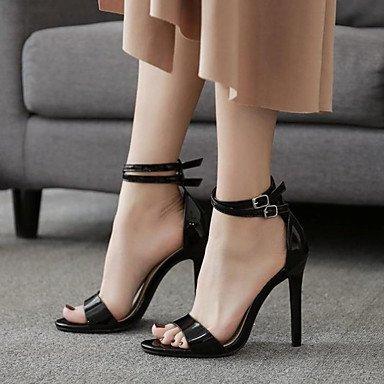Casual Cn34 Chaussures Party Femmes Eu35 Mode Printemps La Pour Cuir Et Talon Similicuir Sandales Confort Nouveaut Soire Aiguille Noir Fschooly Us5 Verni Bottes Uk3 En amp; Amp; qFTUqwd