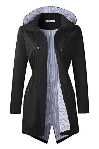 (BBX Lephsnt Raincoats Waterproof Lightweight Rain Jacket Active Outdoor Hooded Women's Trench Coats)