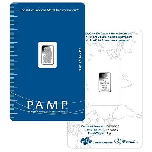 PAMP Suisse 1 Gram Platinum Bars