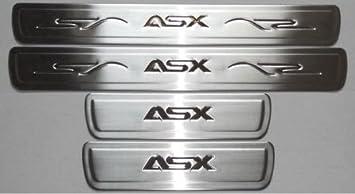 Mitsubishi - Rótulo de Acero Inoxidable Cromado con inscripción ASX