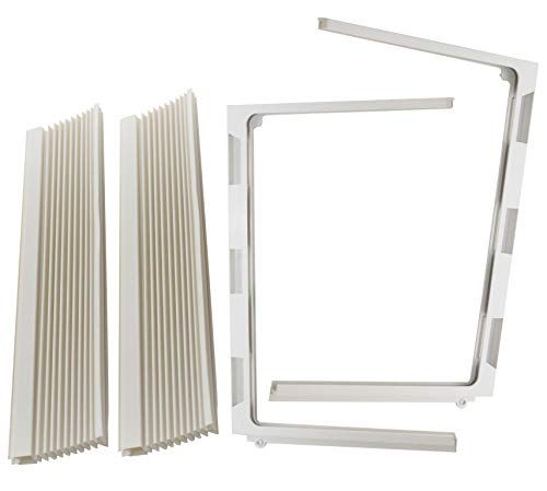 Just4Repair 1 Pair Window air Conditioner Side Curtains and Frame Set L&R (Haier -