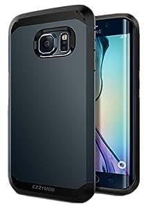 Samsung Galaxy S6 Edge Carcasa, EZZYMOB® Carcasa para Galaxy S6 Edge, resistente a golpes, antiarañazos, Armor Case para Samsung Galaxy S6 Edge., azul ...
