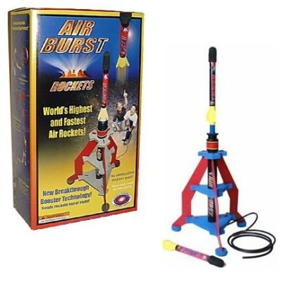 Air Burst Air Powered Rocket with Launcher