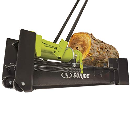 Sun Joe LJ10M 10-Ton Hydraulic Log Splitter, Green (Renewed)
