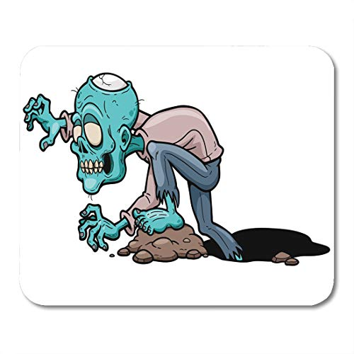 Emvency Mouse Pads Dead Colorful Walking of Cartoon Zombie Adult Monster Death Mouse Pad for notebooks, Desktop Computers mats 9.5