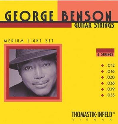 George Benson Guitar Strings (Thomastik GB112 George Benson Flatwound SET Gauge 12)