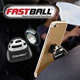 As Seen On TV Fastball Magnetic Car Cell Phone Mount/Holder by BulbHead - Universal 360 Degree Car Dashboard Cellphone Holder - Swivel to Perfect Viewing Position