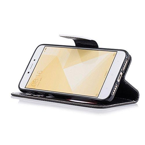 Funda Xiaomi Redmi 4X,ZHXMALL Xiaomi Redmi 4X Carcasa Libro De Cuero Impresión PU Premium Patrón Con TPU Silicona Case Interna Suave,Soporte Plegable,Ranuras Para Tarjetas Y Billetera,Cierre Magnético Bésame el trasero