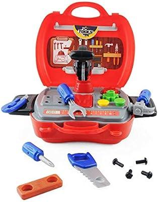 LDM Caja de Herramientas para niños Ingeniero Herramientas de reparación de simulación Hacha de Juguete Carpintería Taladro Destornillador Kit de reparación Juego de Juguetes para niños Regalo (A): Amazon.es: Hogar