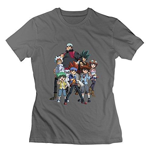 Seico Women's Beyblade Metal Fury Tshirts DeepHeather Size XL (Beyblade Metal Fury Best Beyblade)