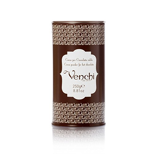 Venchi Italian Chocolate - Cocoa Powder for Hot Chocolate in Metal Tin by Venchi