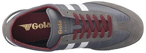 Gola Mens Vespa Moda Sneaker Grigio Bianco Bordeaux