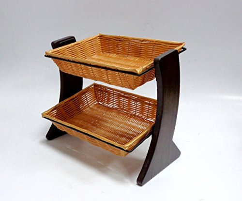 2 Tier Counter Top Basket Display 14'' H x 16-3/4''W x 10-3/4''D by Stock Display Sellers