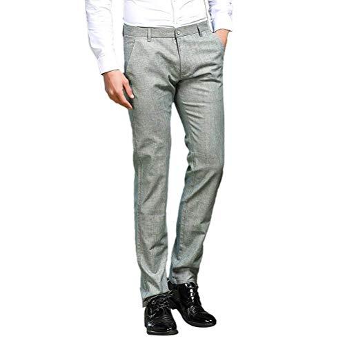 Vintage Tubo Leichte Targogo Herren Slim Flatfront Business Anzughose Leg Disponibile 38 Straight Flessibile Dunkelgrau Hose Fit 30 RqBqwz4