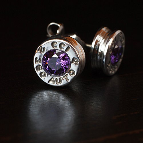 380-aluminum-bullet-casing-earrings-purple-cz-with-titanium-posts-hypoallergenic-nickel-free-bullet-
