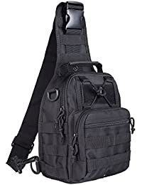 Tactical Bag, Single Shoulder Messenger Bag, Chest Bag, Casual Office Tactical Satchel, Small Tool Backpak, Bag Which is Suitable Carrying ipad, Smart Phone, Wallet Daily Necessities