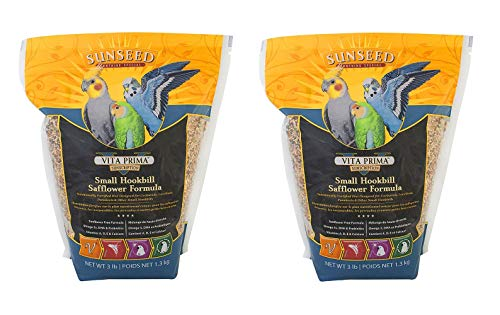 Sunseed company, Vita prima safflower formula small parrot food, 3 Pounds each ( Pack of 2 )