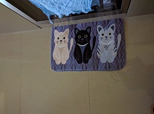 Carpet Animals - Cat Printed For Bathroom Kitchen Carpets- Carpet Flocking for Living Room Anti-Slip Tapete- Size 40 x 60 cm