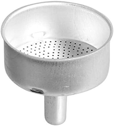 HOME - Embudo de Aluminio para cafetera Moka de 3 Tazas, Plateado ...
