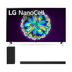 "LG 55NANO85U 55"" Real LED NanoCell Display Smart Nano 85 Ultra HD 4K TV with a LG SN6Y 3.1 Channel DTS Virtual High Resolution Soundbar and Subwoofer (2020) Televisions"