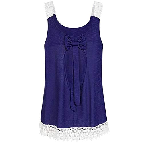 New Summer Strappy Uptops Women Lace Patchwork Sleeveless